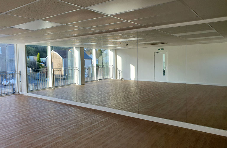 Fitted Dance Studio Wall Mirrors Swansea Coastal Glass And Glazing Services Swansea